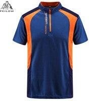 Peilow Большие размеры L ~ 7XL, 8XL брендовая одежда Для мужчин Мужские Поло рубашка Для мужчин быстросохнущие спортивные Мужские Поло рубашка кор...