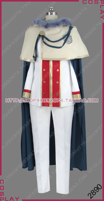 Black Clover Quartet Knights Magic Knight Golden Dawn Klaus Lunettes Uniform Outfit Cosplay Costume S002