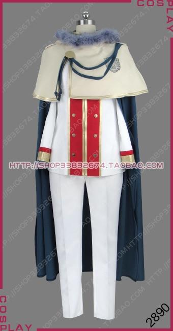 Black Clover: Quartet Knights Magic Knight Golden Dawn Klaus Lunettes Uniform Outfit Cosplay Costume S002