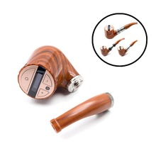 EWINVAPE ePipe F30 e pipe vape mod with long drip tips assembled kit Wooden Grain pipe electonic cigarette for 22mm 510 Atomizer