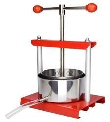 YUEWO 0,53/0,8/1,6 Gallonen DIY Edelstahl Squeezer Weiche Obst Wein Saft Presse Käse Herstellung Presse Tinktur presse Kräuter
