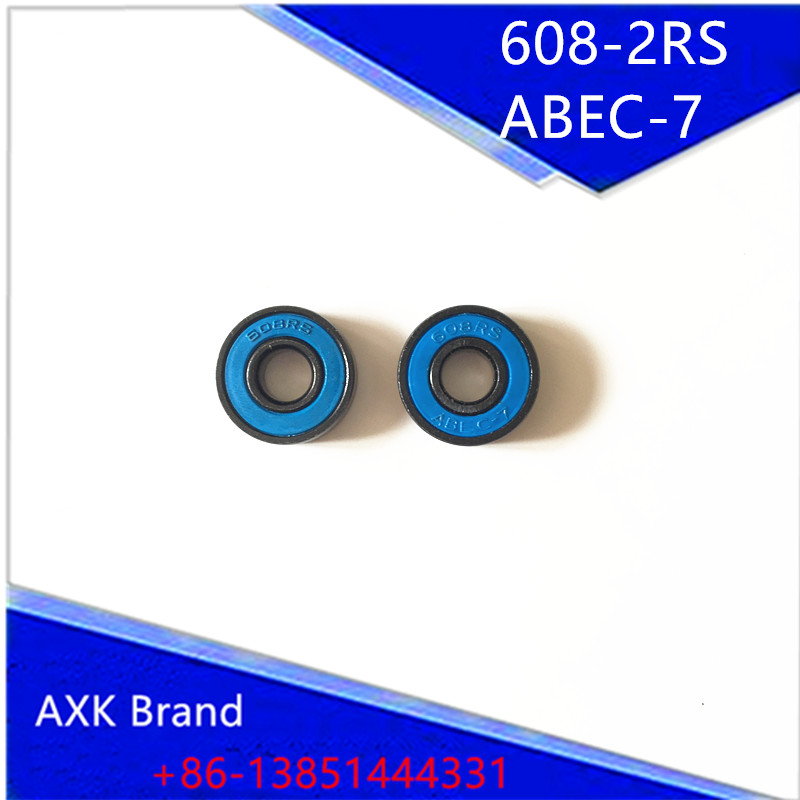 Fast Black  balls Skate Bearing 608-2RS 608 ABEC-7  Roller skate shoes Skateboard Speed Slalom skates