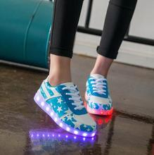 New 2017 Fashion Light Up Shoes Femme Luminous men Shoes Led For Adults Schoenen men Casual Chaussures