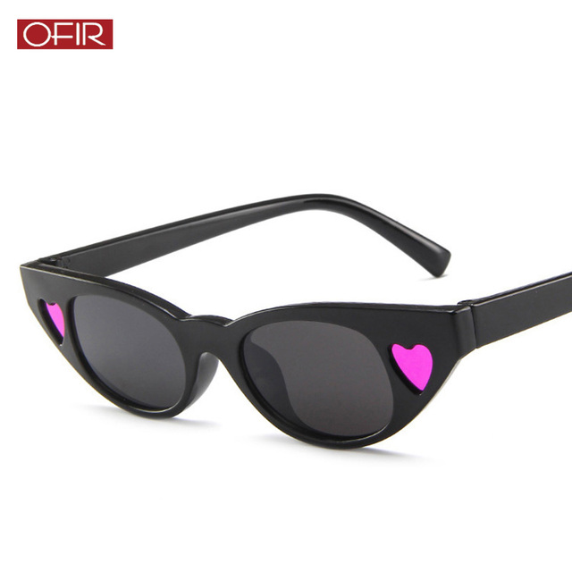 ae845332530 2019 New Vintage Women Small Love Cat Eye Sunglasses Oval Sun Glasses  Ladies Retro Tiny Cateyes Eyewear Shades for Women