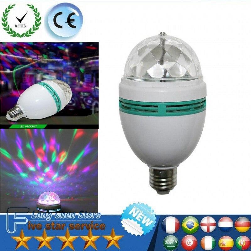 E27 9 Вт светодиодный лампы RGB Авто вращающийся Magic Ball лампа свет этапа Красочные ночник для дома DJ для отдыха и вечеринок танец Decora