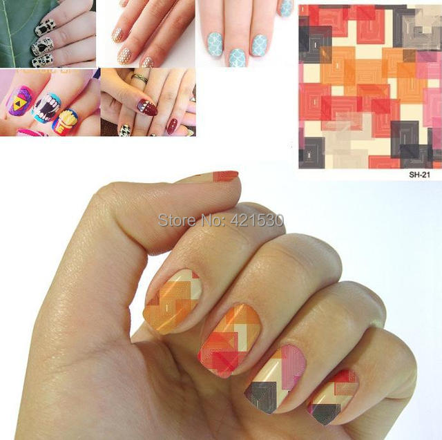 Flower Minx Nail Patch Art Wrap Stickers Beauty Nail Foil Polish ...