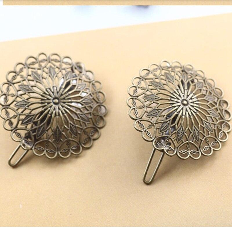 A pair bronze retro fashion hairpins hair clips woman lady flower hair accessories