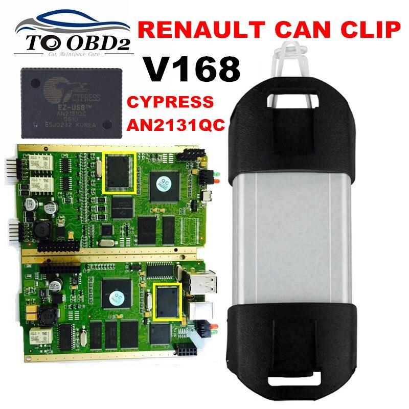 Prix pour Qualité Excellente PCB Plein Puce AN2131QC Dernière V168 Renault Can Clip Diagnostic Interface Multi-Fonction PEUT Couper Pour Renault