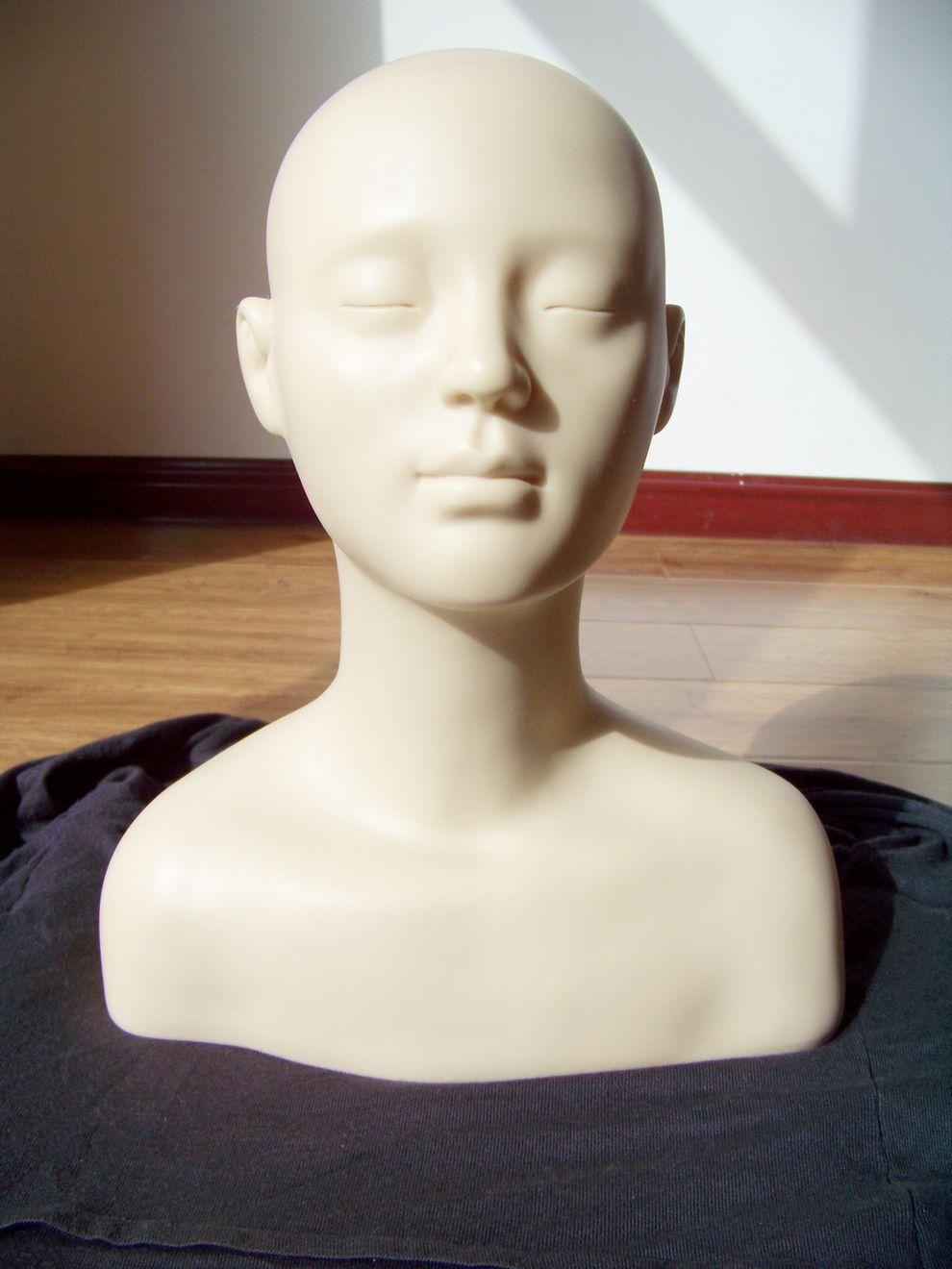 Nieuwe Kom Vrouwen Massage Zachte Balsamtraining Mannequin Hoofd Praktijk Make Up Wimpers Wimpers Extensions