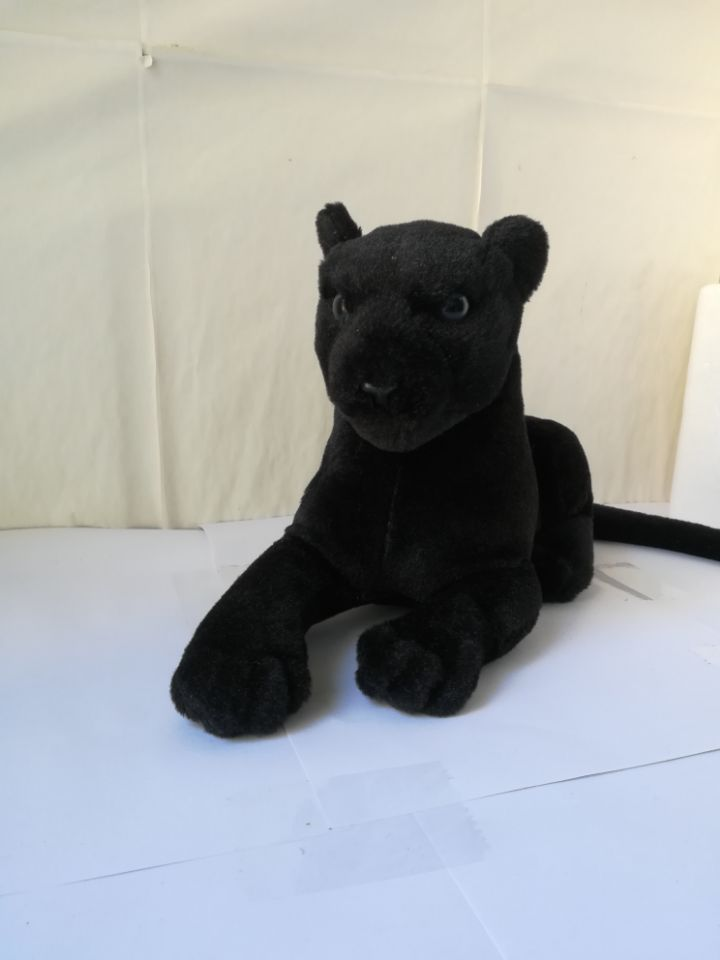 black panther plush toy about 40cm soft doll birthday gift b2741
