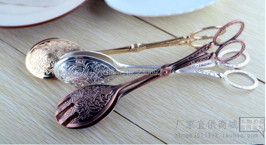 moda clsica vintage utensilios para hornear alimentos pan clip de metal clip de hielo barbacoa pinzas