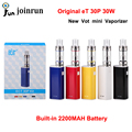 Original Electronic Cigarettes ECT eT 30P 30W Box Mod Vot Mini  Airflow Control Vaporizer Built-In 2200mAh Battery E-Cigarettes