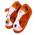 Aog de dibujos animados Hombre de Casa de la Mujer Venta de la Felpa Zapatillas de Algodón Caliente Zapatillas antideslizantes Zapatos Niños Moda TCCS6031