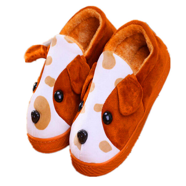 Cartoon Aog Man House Woman Selling Plush Warm Cotton Slippers Non-slip Slippers Children Fashion Shoes TCCS6031