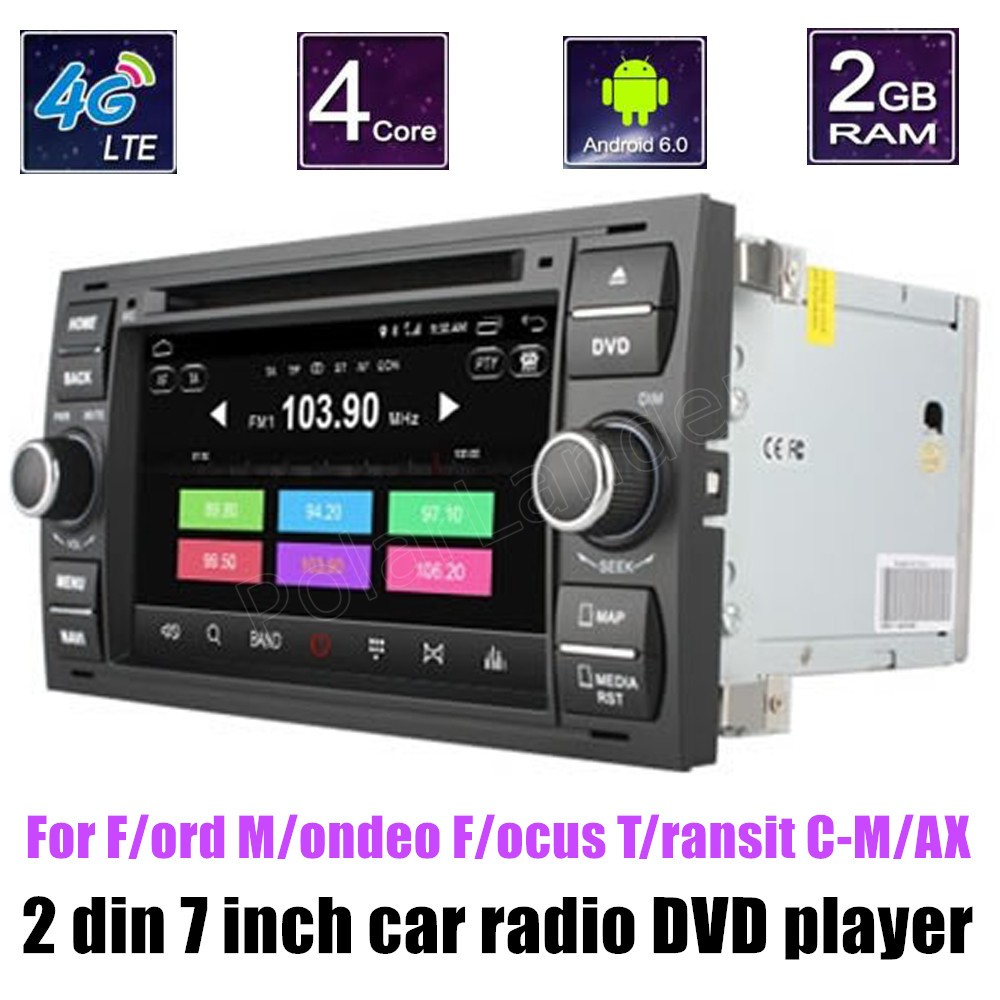 2 din 7 inch Android 6 0 CAR DVD player For F ord M ondeo F