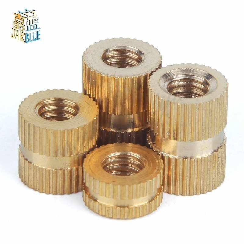 50Pcs M5 * L * (OD) Braas ใส่ NUT ฉีดทองเหลือง Knurled แทรก Nuts