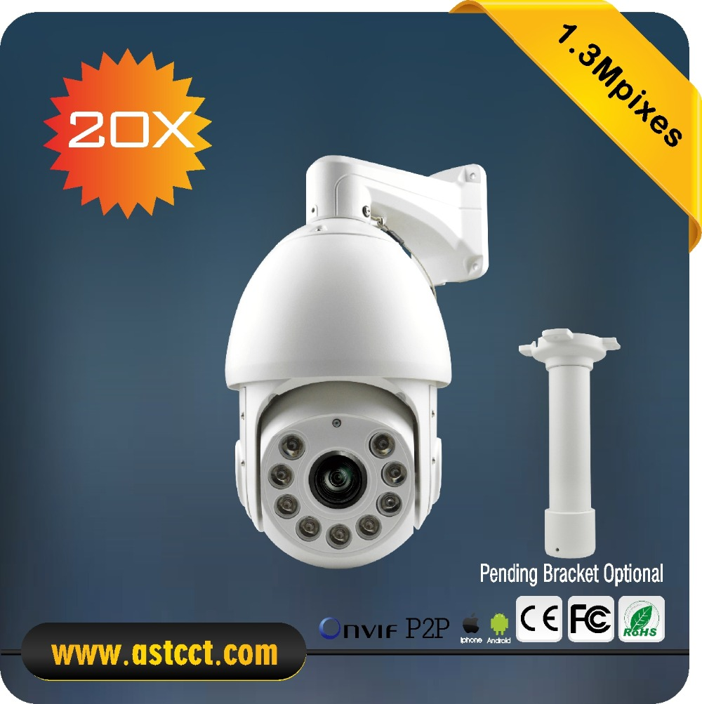 PTZ Outdoor 360 Camera IP PTZ Camera Network 1.3MP HD P2P CCTV Camera 20x Zoom IP IR High Speed Dome Camera IP 66 4 in 1 ir high speed dome camera ahd tvi cvi cvbs 1080p output ir night vision 150m ptz dome camera with wiper