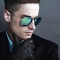 New прибытие Классический бренд дизайнер солнцезащитные очки не выцветают железной Раме Пилот UV400 Антибликовым Солнцезащитные очки 3027