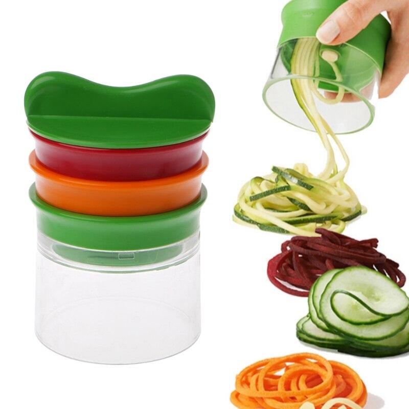 3 En 1 Multifonction Légumes Silicer 3 Lames Spiralizer Éplucheur Fruits Curl-M15
