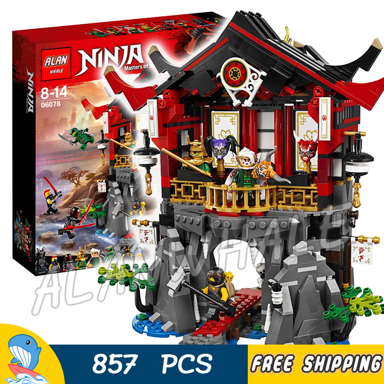 857pcs Ninja Temple of Resurrection Garmadon's Dark Fortress 06078 Model Building Blocks Assemble Toy Brick Compatible With lego gear pump cbn e316l left rotation with flange no end oil outlet splined long shaft of dongfeng tractor