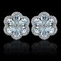 Sparkling new arrival luxury AAA zircon flower earrings for women,high quality fashion CZ stud earrings jewelry