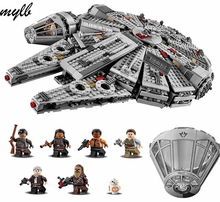 лучшая цена mylb Star Wars Millennium Falcon Outer Space Space Ship Building Blocks Model Toys Christmas Gift for Children Compatible