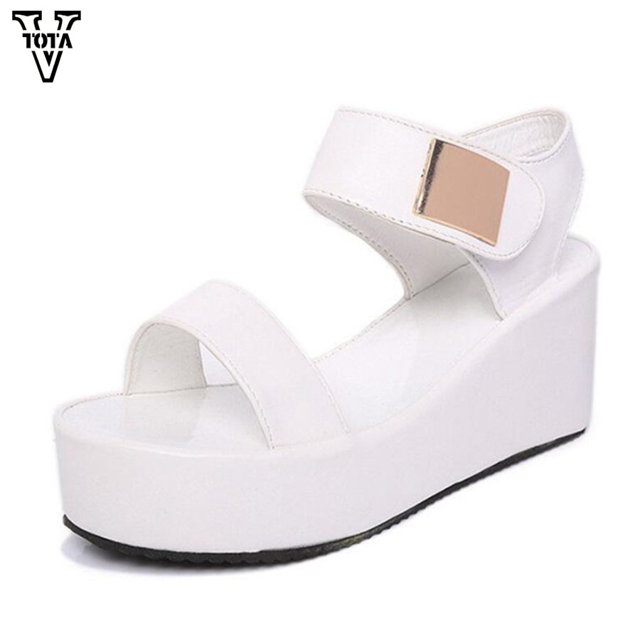 e31ef9e25483 Detail Feedback Questions about VTOTA New Sandals Women Wedges Heel Platform  Fashion Women Shoes Open Toe Summer Shoes Woman Lightweight Sandalias Mujer  QY ...