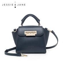 JESSIE&JANE New Arrival Unique Wing Design Split Leather Women Messenger Bags Fashion Trapeze Shoulder Bag Top-Handle Bags 1332
