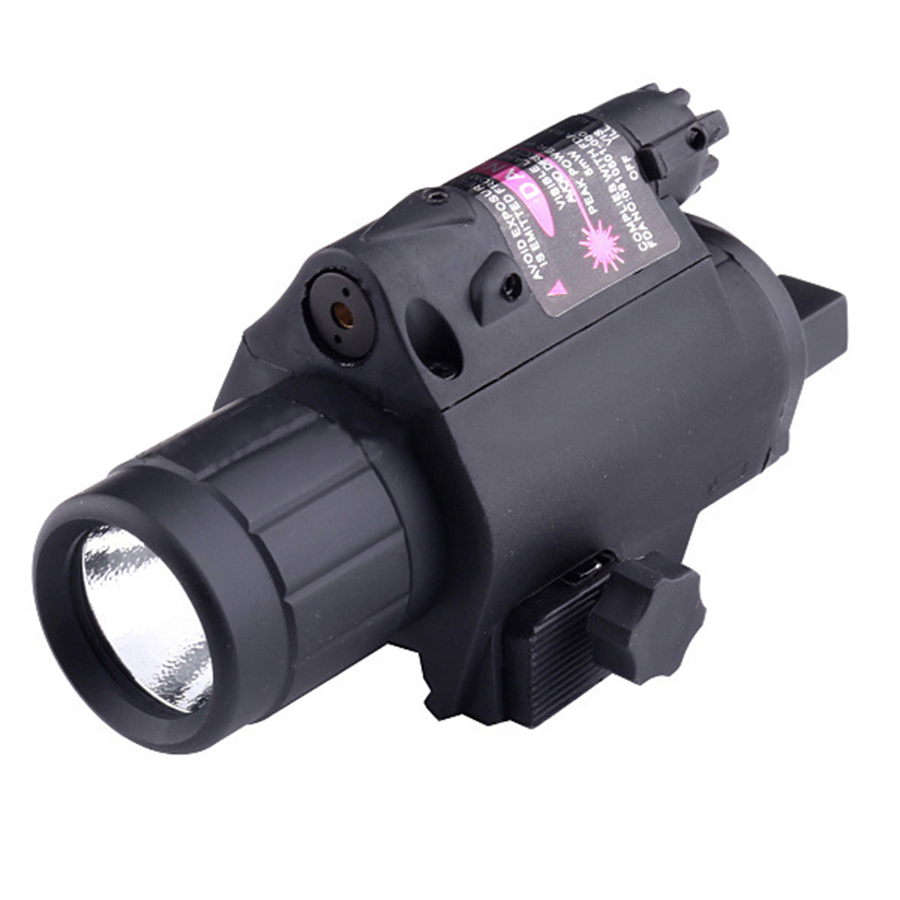 M6H-B 3 Mode Airsoft Black Military Tactical Flashlight Red Laser Sight LED Outdoor Hunting Flashlight for 20mm Rail