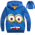 Hot Sale Cartoon Anime Figure Despicable Me Spongebob Children Hoodies Kids Jackets Boys Girls Autumn Minion Hoody Sweater