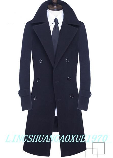 Popular Long Wool Coats Men-Buy Cheap Long Wool Coats Men lots ...