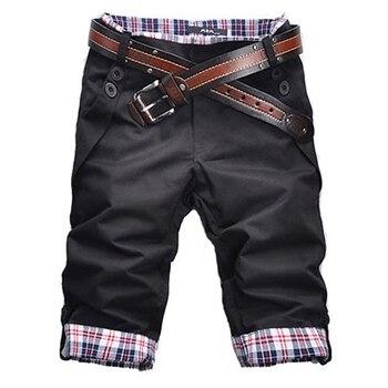 High Quality Men's Shorts 2019 Summer Mens Shorts Casual Slim Fit Short Men Streetwear Cargo Shorts Man Clothes Knee Length Men's Casual Shorts