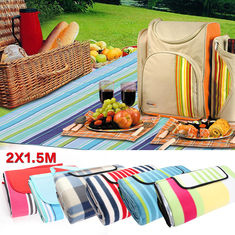 New Outdoor picnic mats tents beach camping widening thickening moisture-proof mat big double bags pads travel oxford colorful