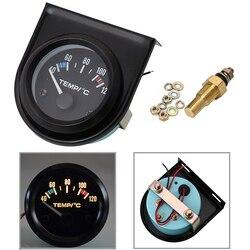 Bezpłatna dostawa 1 zestaw 52mm czarny samochód Auto cyfrowy LED wskaźnik temperatury wody zestaw 40-120 stopni