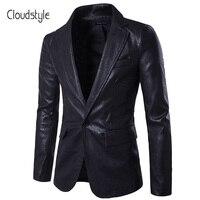 Cloudstyle 2018 סגנון אופנה חדש גברים בלייזר מקרית טרייל Sloid חום אדום שחור תלבושות Homme גברים בליזר Slim Fit