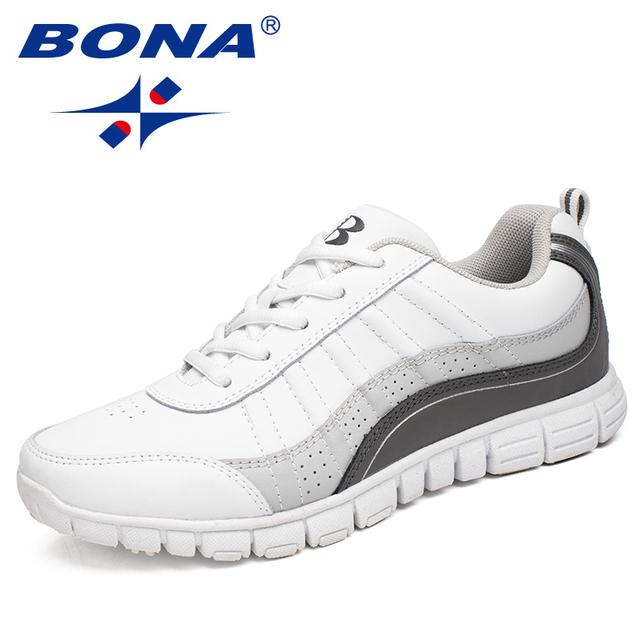 BONA nuevo estilo caliente zapatillas de correr para mujer zapatos deportivos de encaje para caminar al aire libre zapatillas cómodas envío gratis