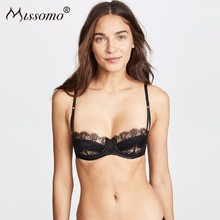 Missomo Lace Nude Women Bra Sexy Silk VS BH Mesh Bralet Modis Erotic Push Up Bralette Stripper Plus Size Cup Brassiere Lingerie