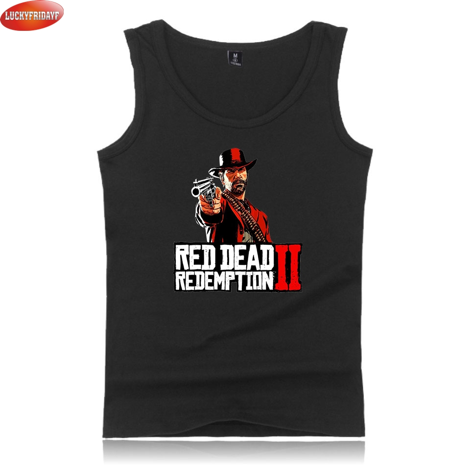 LUCKYFRIDAYF red dead redemption 2 Fashion Summer   Tank     Tops   Women/Men Sleeveless Casual   Tops   2018 Popular Game Printed Clothes