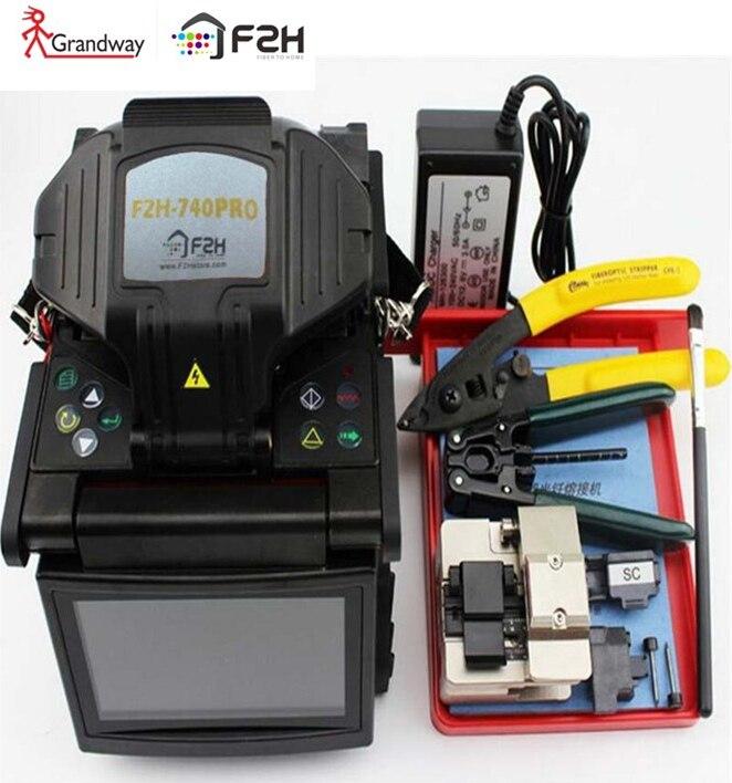 Grandway F2H-740 PRO Professionnel SM et MM Automatique FTTH Fiber Optique Épissure Machine Fiber Optique Fusion Colleuse Intérieur extérieur
