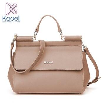 Kadell Vintage High Quality Women Messenger Bags Handbag Doctor Bag Fashion Brand Shoulder Women Leather Handbags Ladies Tote doctor bag