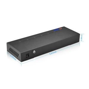 Image 4 - BESDER 1/802 af/at 8CH POE 스위치 10 포트 10/100 Mbps CCTV 스위치 250 신호 전송 8 POE 포트 1 NVR + 1 업 링크 포트 123.2W