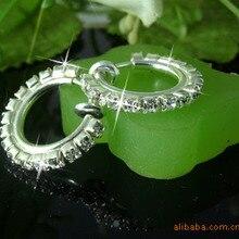 Clip on earrings fake pierce-look DIAMAN