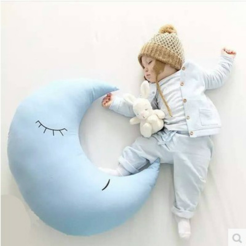 70 CM big Children Cute Moon Cushion Kids Comfort Cotton Bed Sofa Christmas Gifts toy
