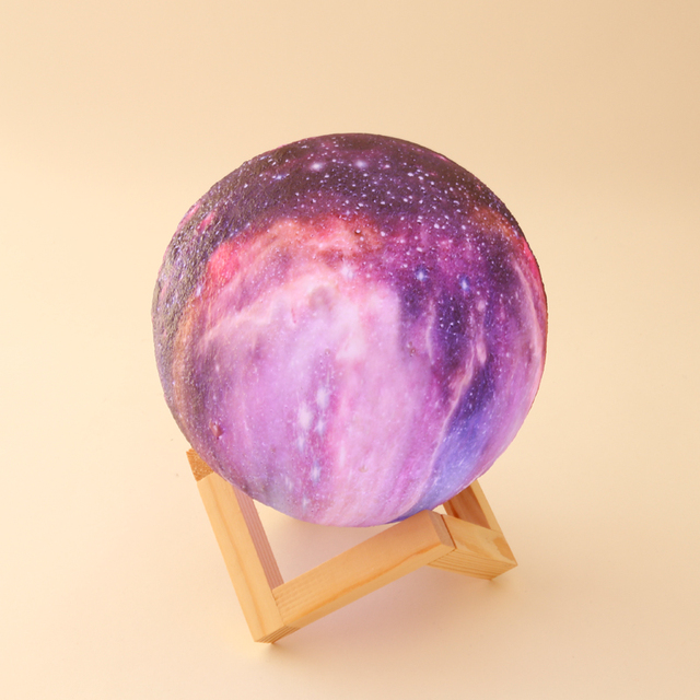 Dropship New Arrival 3D Print Star Moon Lamp Colorful Change Touch Home Decor Creative Gift Usb Led Night Light Galaxy Lamp 1