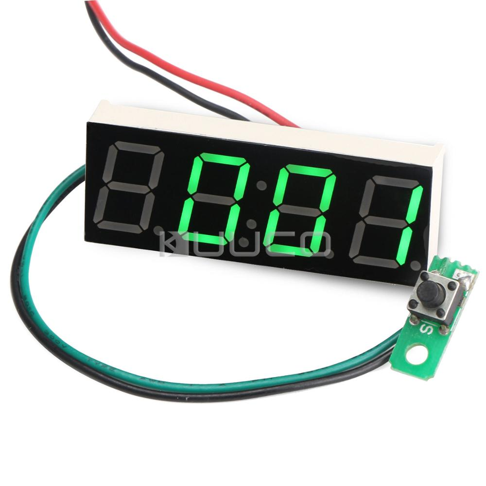 Digital Meter/Electronic Digital Clock Green Led display Panel Meter Adjustable Car Clock DC 12V 24V DIY Time Monitor/Tester цена