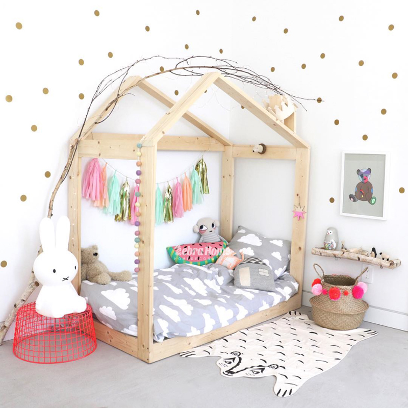 Baby Nursery Gold Polka Dots Wall Stickers Dots Wall Decal ...