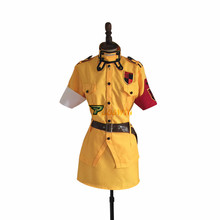 Anime Hellsing Seras Victoria Yellow Uniform Cosplay Costume with Socks Custom Made Any Size цена