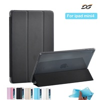 Case For IPad Mini 4 Xinysan PU Leather And Soft Silicone TPU Back Smart Cover Safe