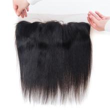 "Lumiere Hair Indian Straight Hair Frontal Remy Human Hair 13""x 4"" Free Part Ear to Ear Hair Closure Free Shipping"