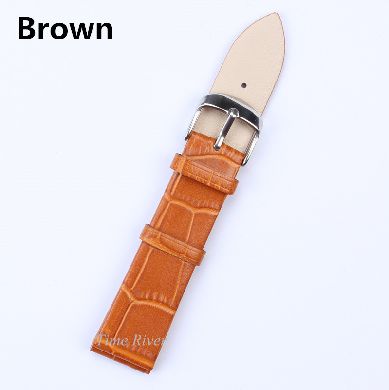 1PCS Genuine leather Watches Band Strap -Brown-12mm 14mm 16mm 18mm 20mm 22mm Woman Man Watchbands Watch Belts 100% genuine leather watch band strap 20mm 22mm 24mm brown black men man watchbands watch belts high quality